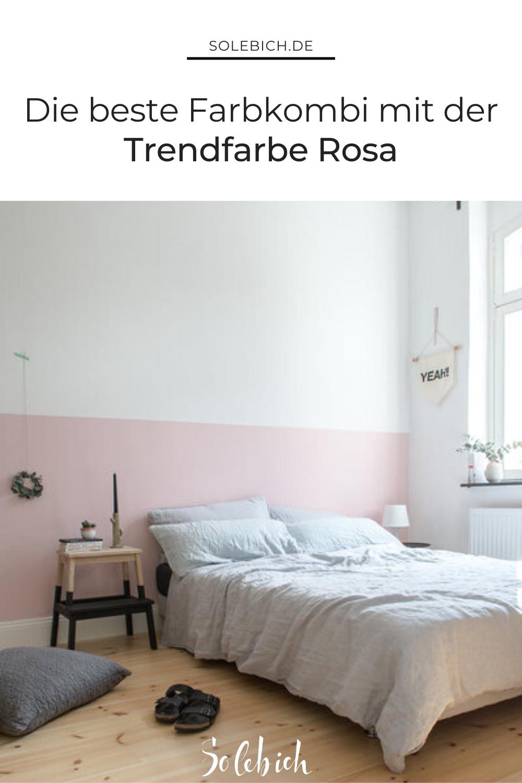 4 schöne Ideen, die Trendfarbe Rosa mit Grau zu