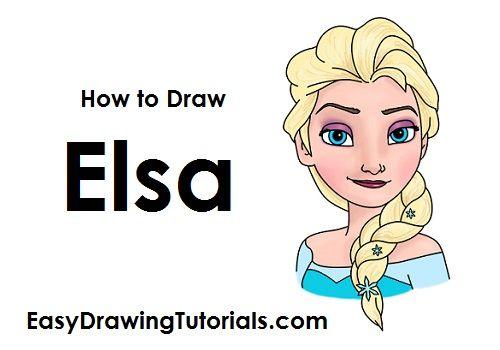 Zeichne Elsa - Schritt für Schritt - mit Video.