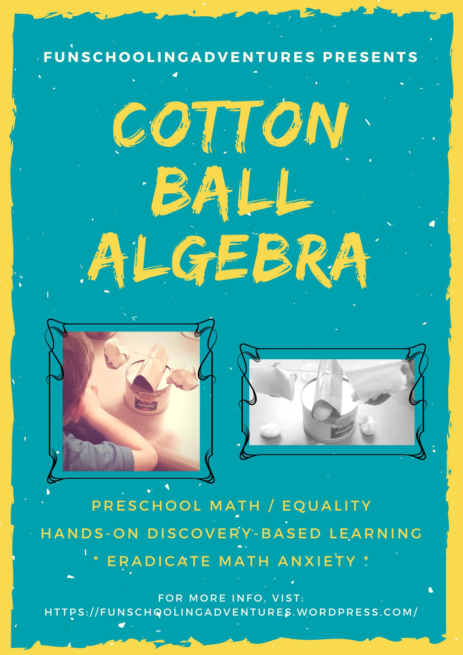 Math Monday: Cotton Ball Algebra | Algebra, Math concepts and Math