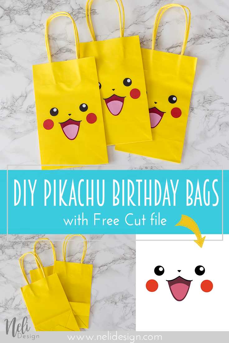 Pikachu Party bags and a free template - Pokemon themed party, Pokemon party bags, Pokemon birthday party, Pokemon party favors, Pokemon party, Boy birthday parties - Have kids that love Pokemon  Want an easy and affordable solution to make them happy on their birthday  Get this free Pikachu Party bags printable