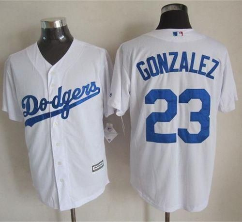 f18a6ceab0a Dodgers #23 Adrian Gonzalez White New Cool Base Stitched MLB Jersey ...