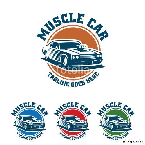vector muscle car logo retro logo style vintage logo car logos rh pinterest com muscle car emblem american muscle car logos