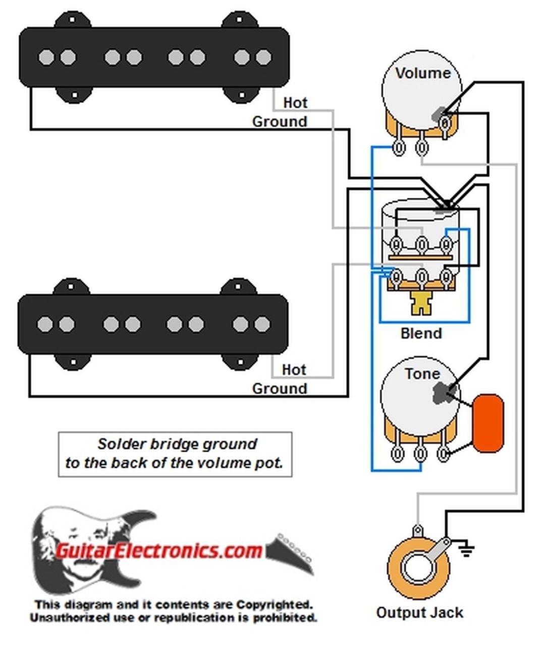 Jazz Bass Style Wiring Diagram I 2021