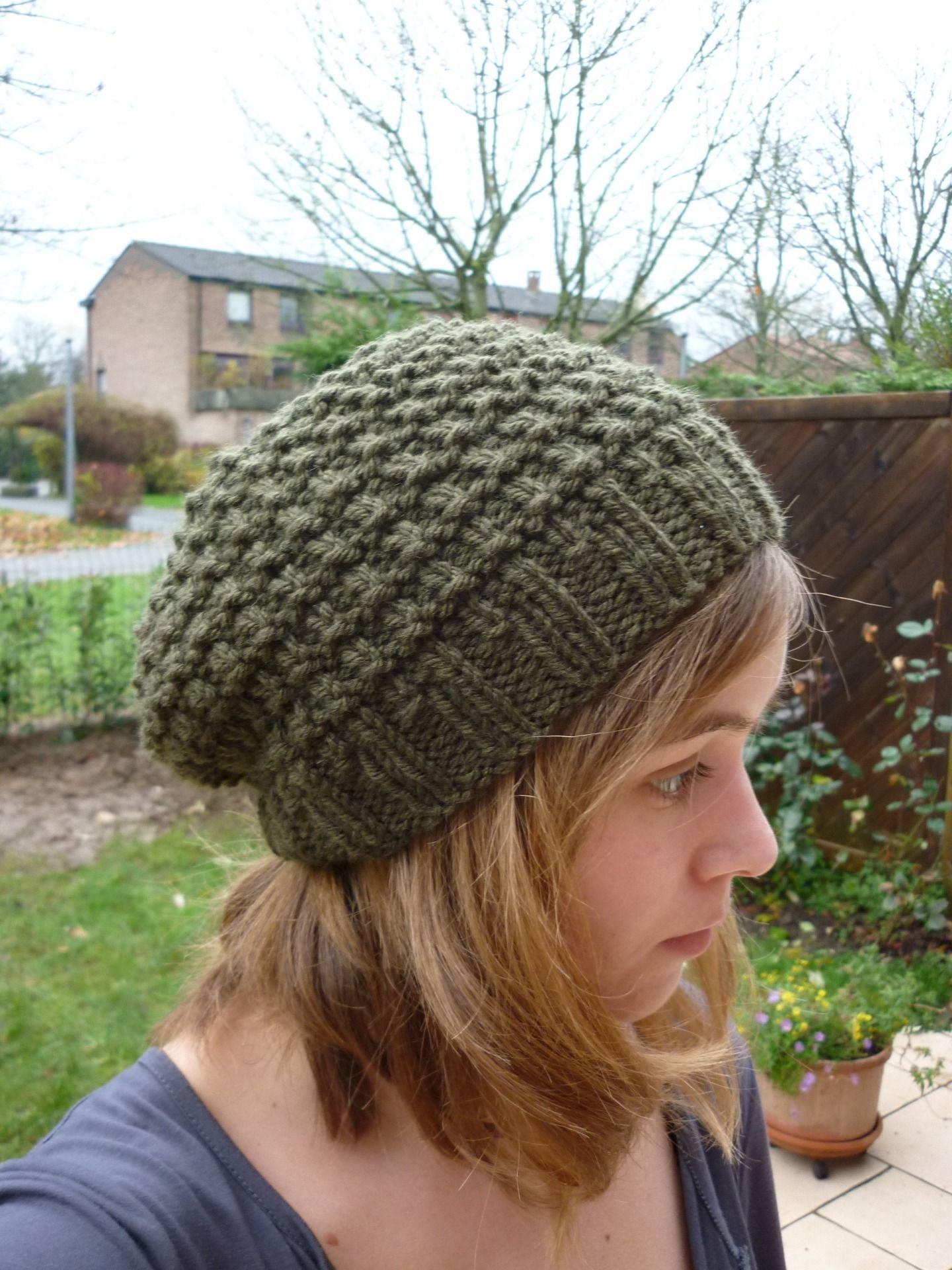 modele bonnet tricote main