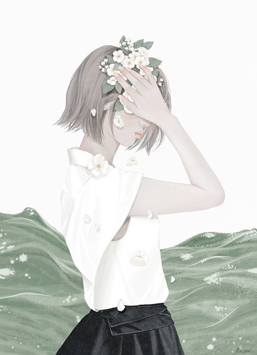 Delicate Illustrations by Choi Mi Kyung  Art girl, Anime art