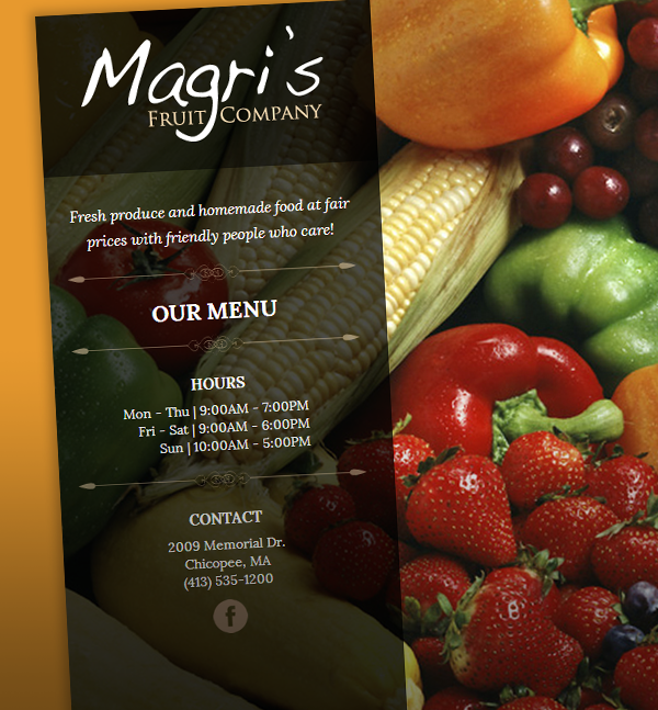 WhatArmy.com Website Design Client: Magri's Fruit