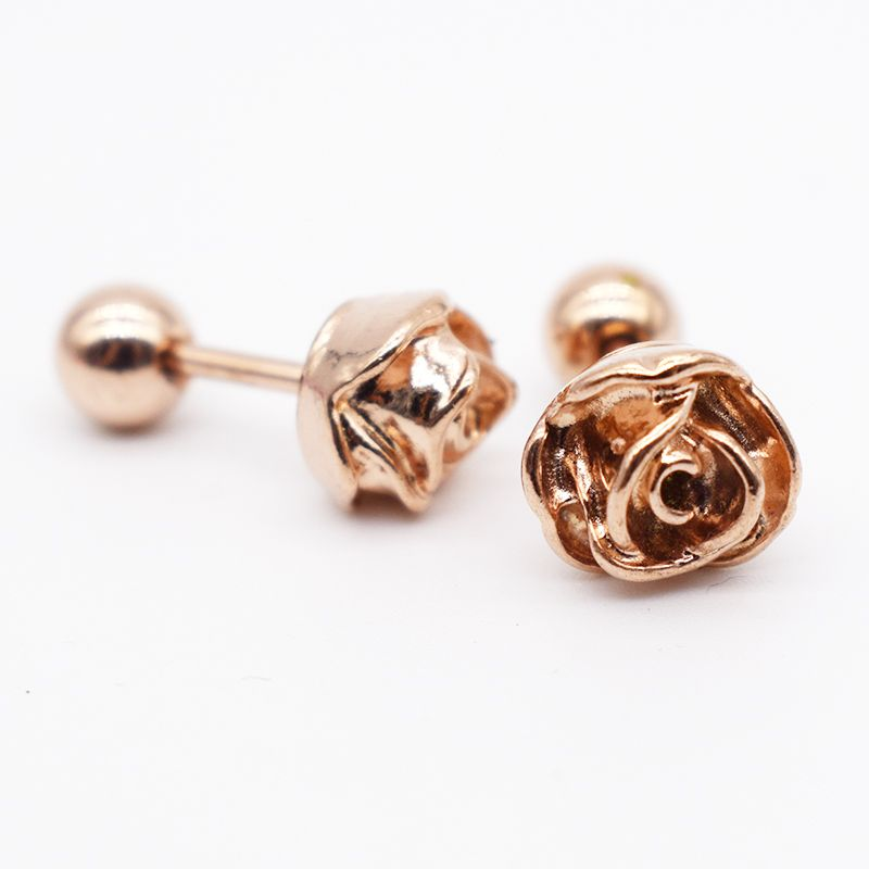 Find More Body Jewelry Information about 2pcs 6mm Length Rose Gold
