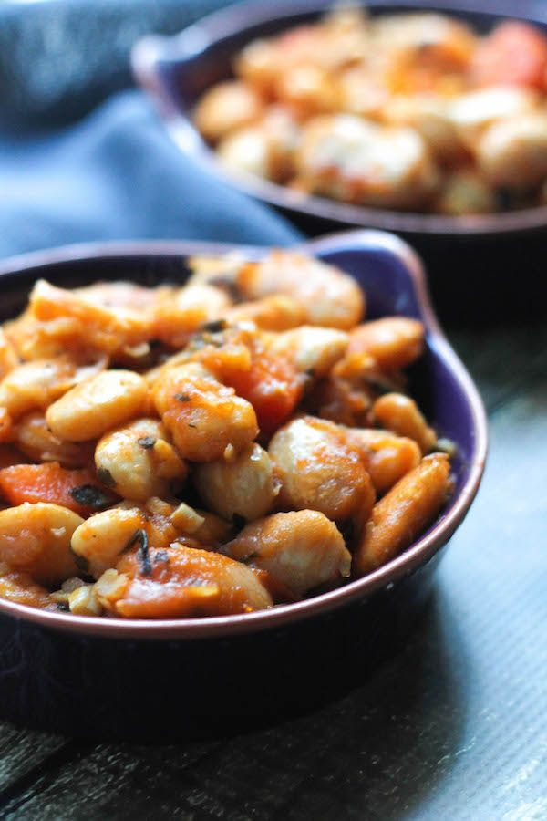 Greek Baked Elephant Beans (Gigantes) | sides & appetizers | Food