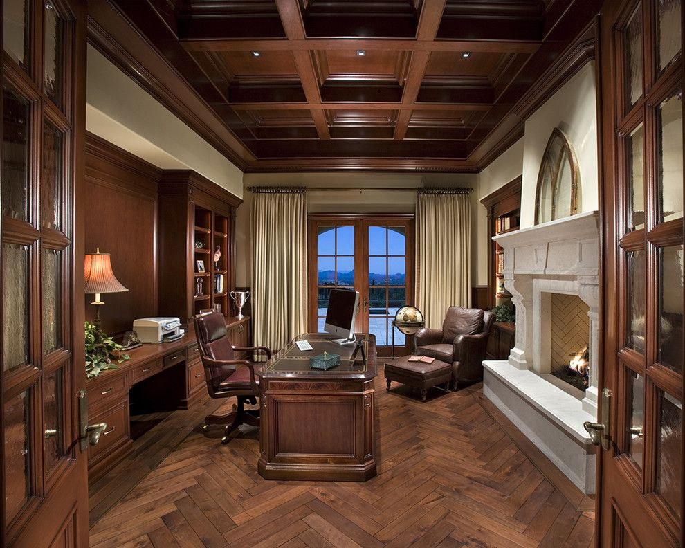 Office curtain ideas Blinds Home Office Curtain Ideas Home Office Traditional With Recessed Lighting Fireplace Surround Window Treatments Pinterest Home Office Curtain Ideas Home Office Traditional With Recessed