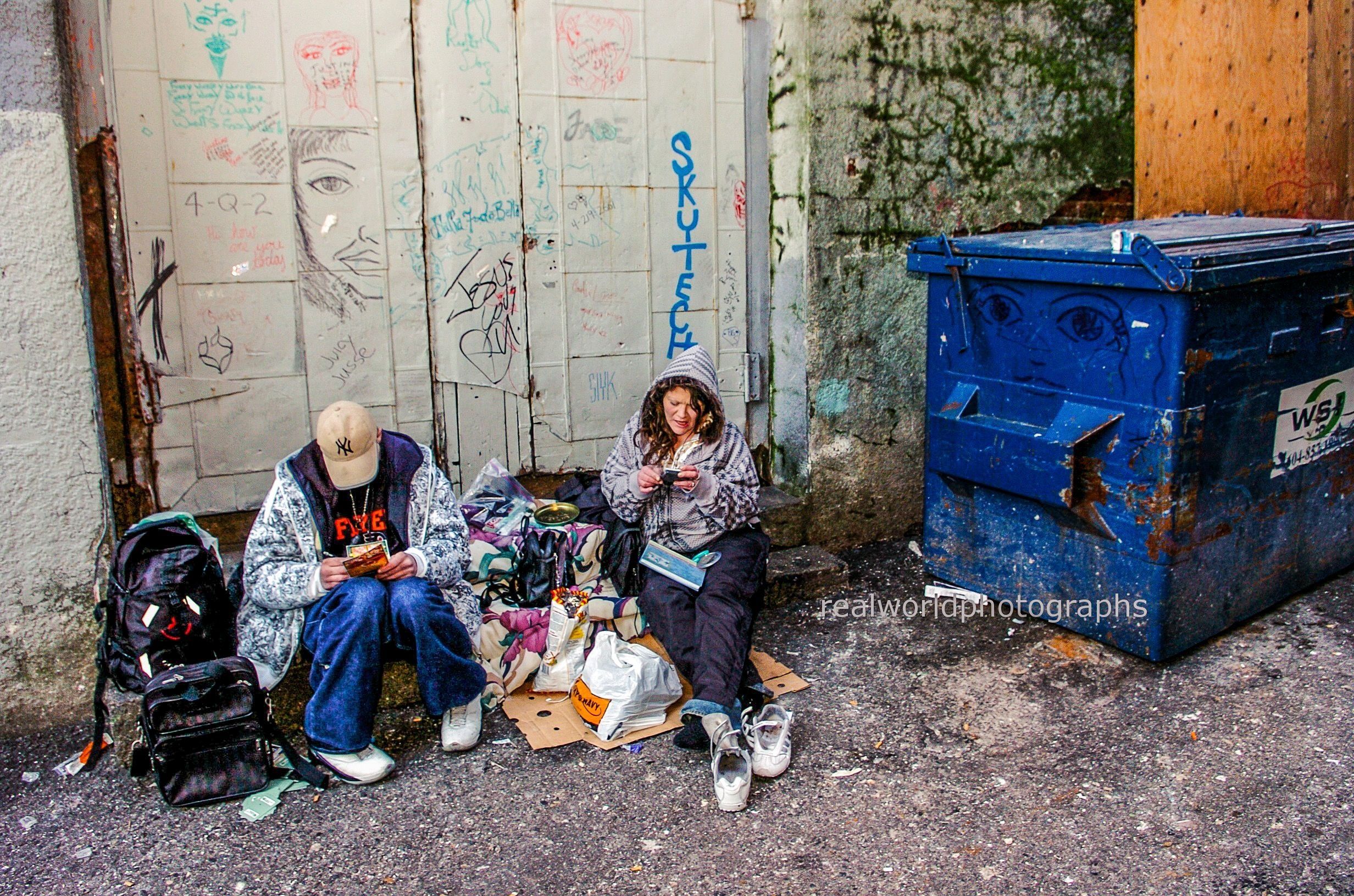 Life in a East Vancouver back alley. British Columbia