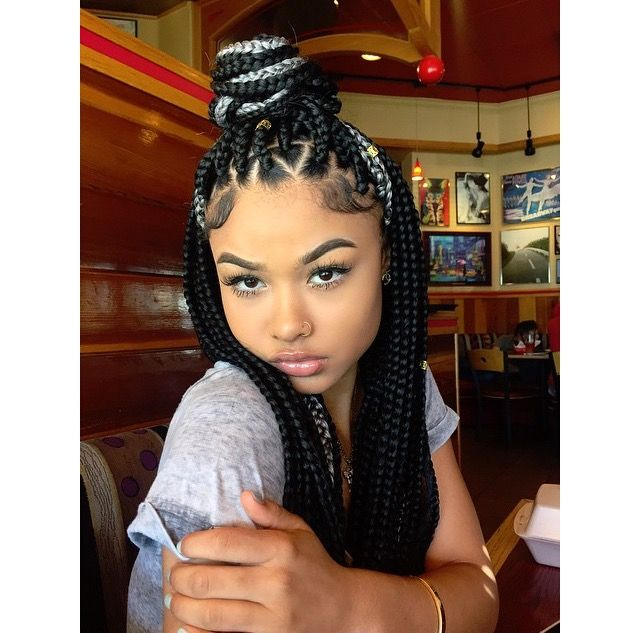 india westbrooks with box braids | box braids styling