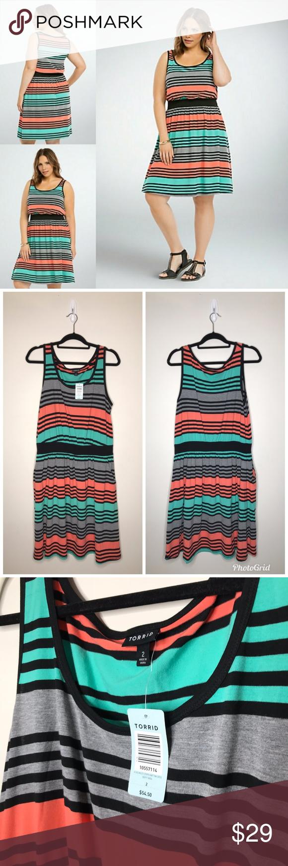 Torrid Striped Banded Tank Summer Dress 2x 215t0 Dresses 2x Summer Dresses Torrid Dresses [ 1740 x 580 Pixel ]