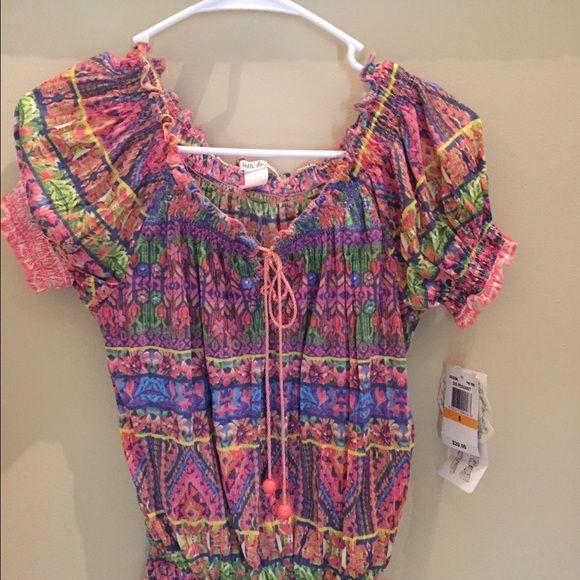 Multi pink colored pastel blouse Multi colored pink blouse Belle du jour Tops Blouses