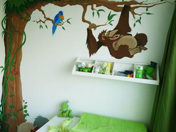 Idee n en design kinderkamer muurschildering inspirerende foto 39 s en idee n van het interieur - Deco muurschildering ...