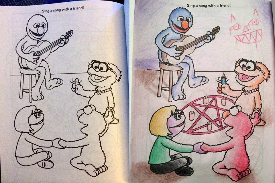 Coloring Book Corruptions Corrupt Coloring Book Childrens Drawings Childrens Colouring Book