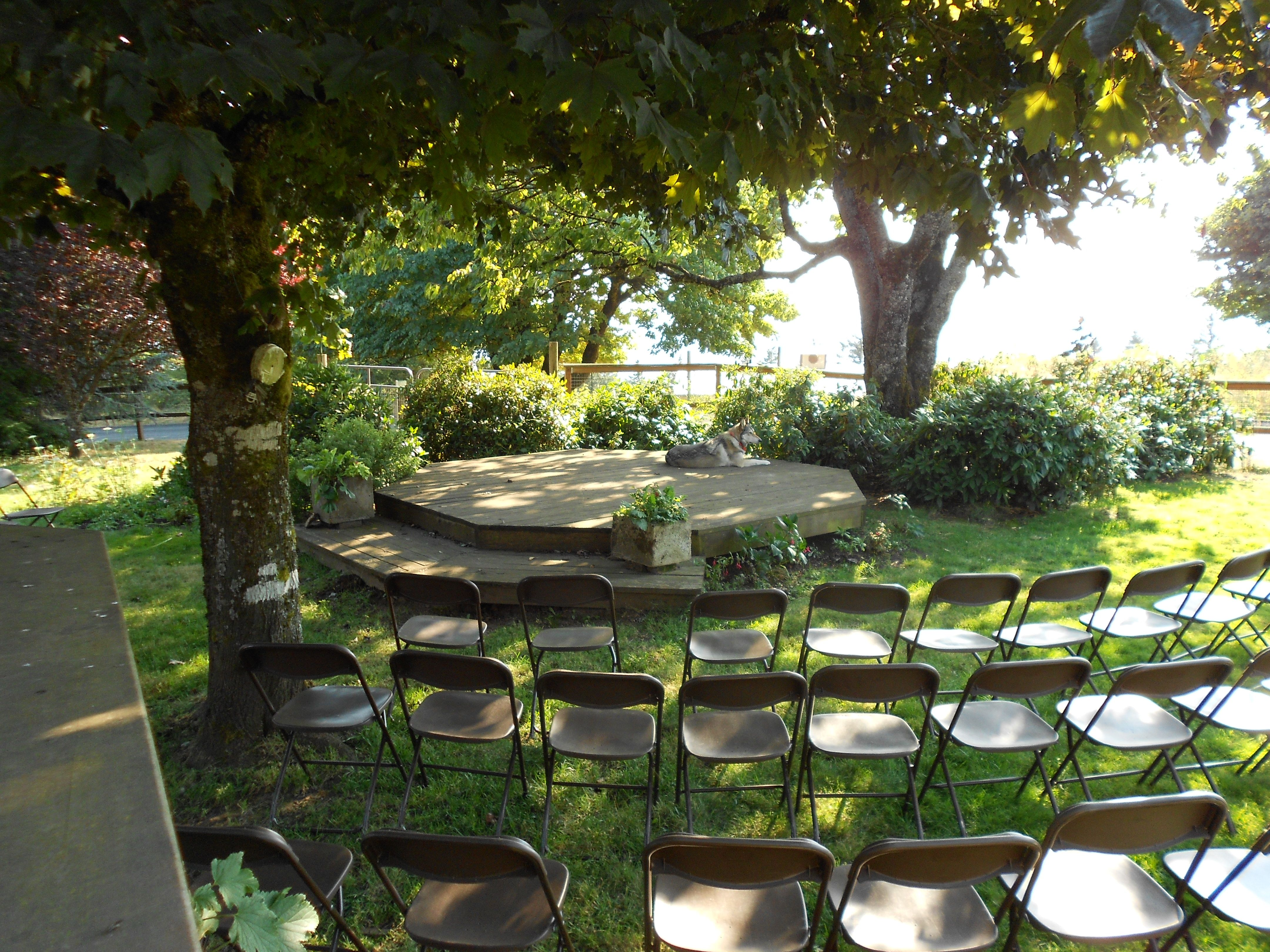 outdoor ceremony - next pic will show the view | Outdoor ...