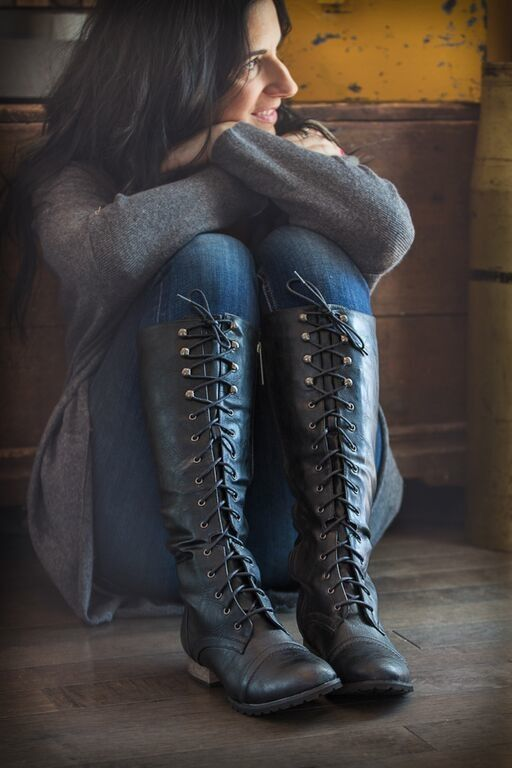 Best 25 Black Lace Up Boots Ideas On Pinterest Black