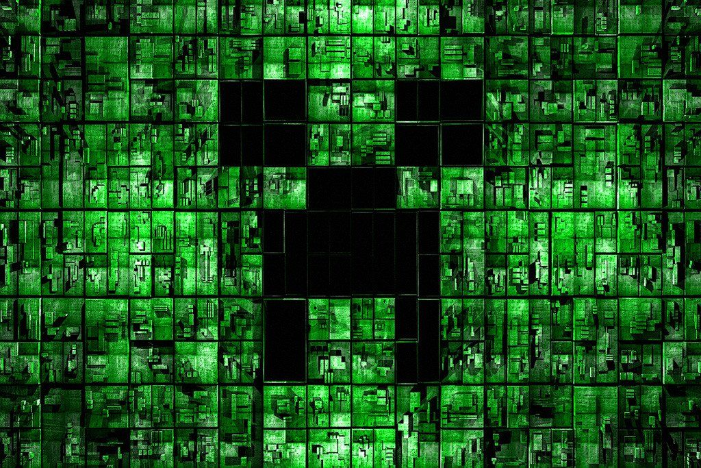 Minecraft Creeper Face Poster Minecraft Wallpaper Hd Wallpaper Android Background Hd Wallpaper
