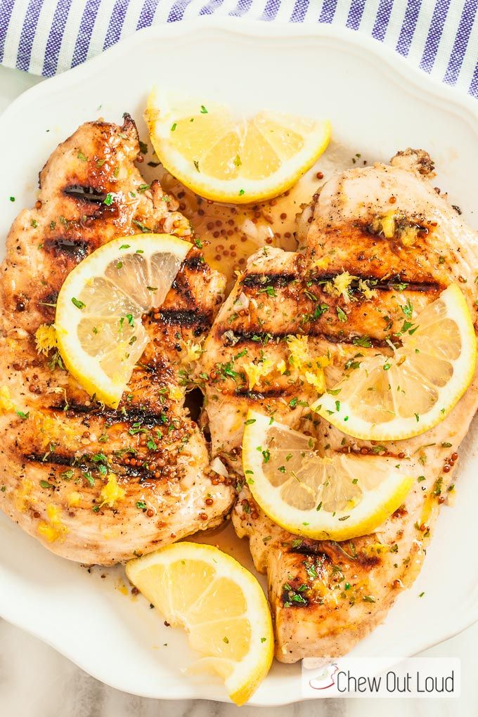 Lemon Dijon Grilled Chicken | Recipe | Grilled chicken ...