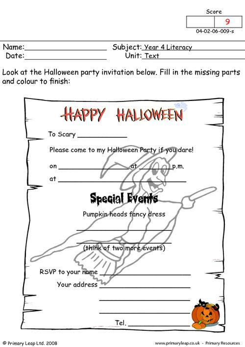Primaryleap halloween worksheet primary worksheets primaryleap halloween worksheet primary worksheets pinterest primary resources literacy and worksheets stopboris Choice Image