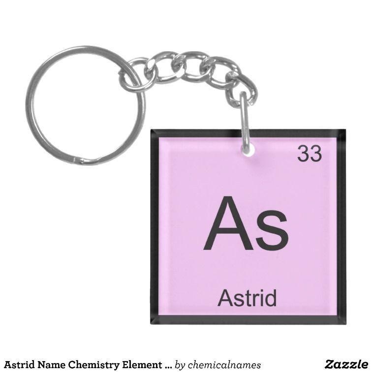 Astrid fairbeautifulgod baby names pinterest periodic table shop astrid name chemistry element periodic table keychain created by chemicalnames personalize it with photos text or purchase as is urtaz Images