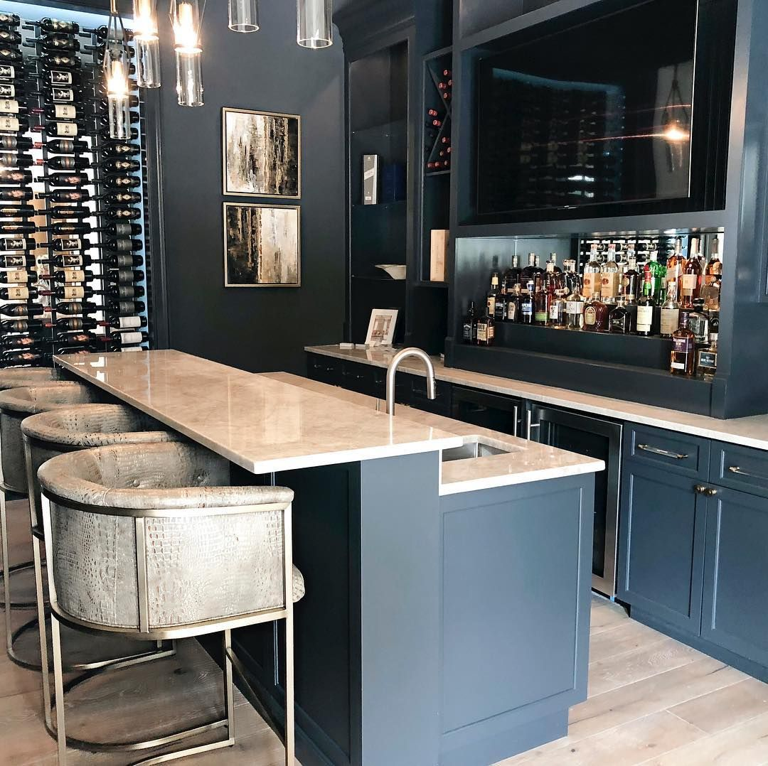 The French Mix Interior Design On Instagram Cheers To A Beautiful Interior Design Project By Thefrenchmix Cus Bars For Home Modern Home Bar Home Bar Rooms