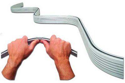 amazon com bendable shower curtain rod