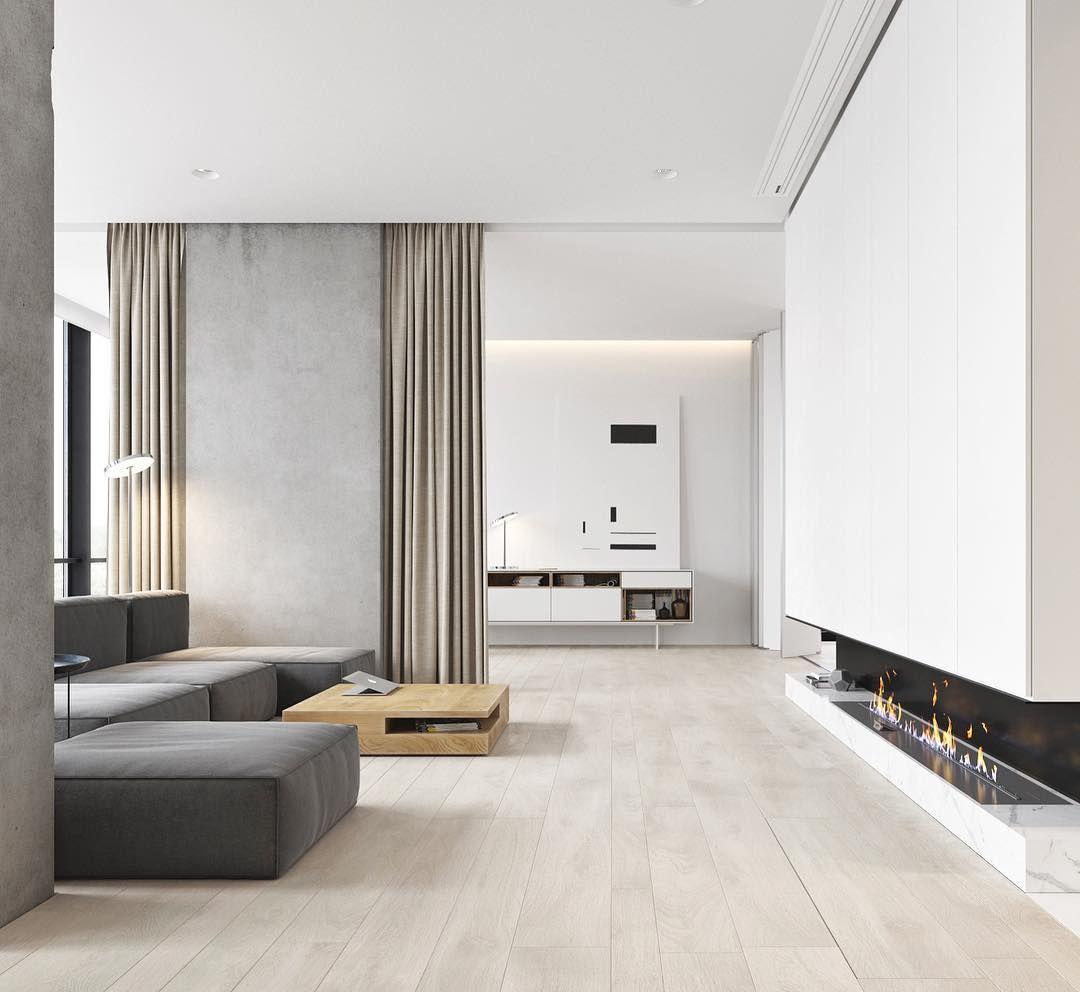 Minimalist Home Interior: Chic E Moderno Na Medida Por M3 Architectural