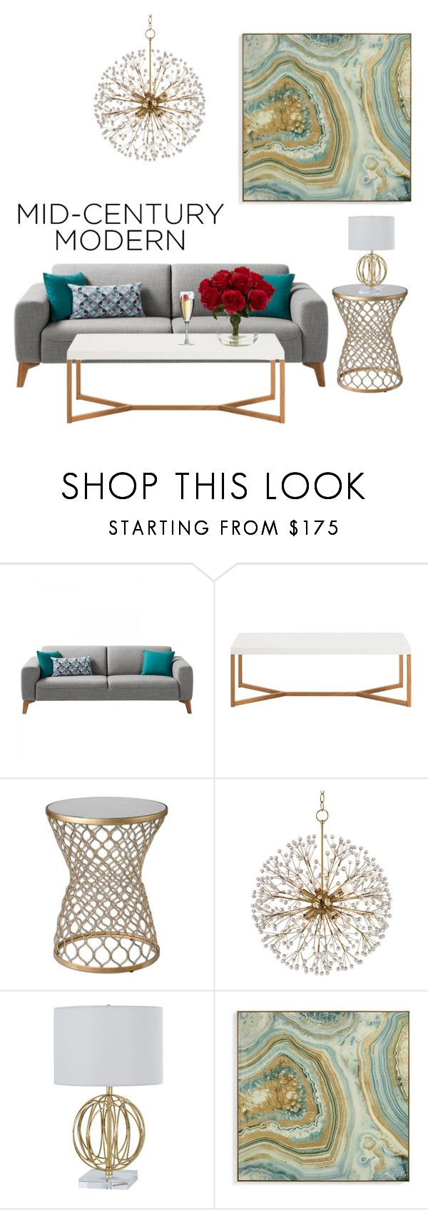 """""""Modern but not to modern👌🏼"""" by weesiesmorgan ❤ liked on Polyvore featuring interior, interiors, interior design, home, home decor, interior decorating, Hudson Valley Lighting, Grandin Road, Nearly Natural and modern"""
