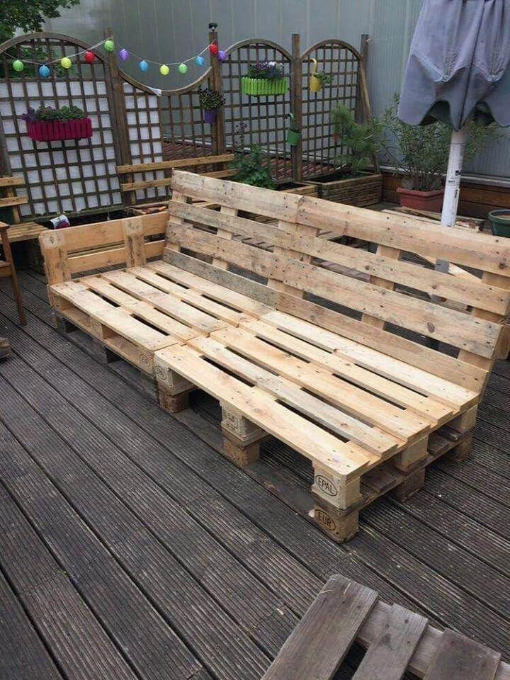Beautiful Pallet Lounge Furniture - Easy Pallet Ideas #recyceltepaletten