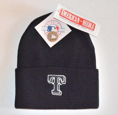 dd6c5e2b728 Texas Rangers Black (WL) Beanie Hat - MLB Cuffed Winter Knit Cap by MLB.  Visit