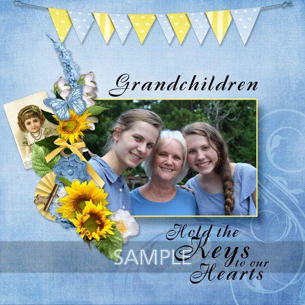 Digital Scrapbooking Kits | Blue Skies Collection-(ADBD) | Family, Heritage, Memories, Seasons, Vintage | MyMemories