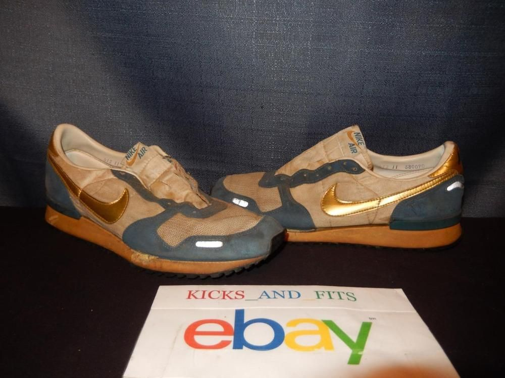 TRUE VINTAGE OG Nike Air Vortex Running Shoes Metallic 80's Rare USA Made  sz 11