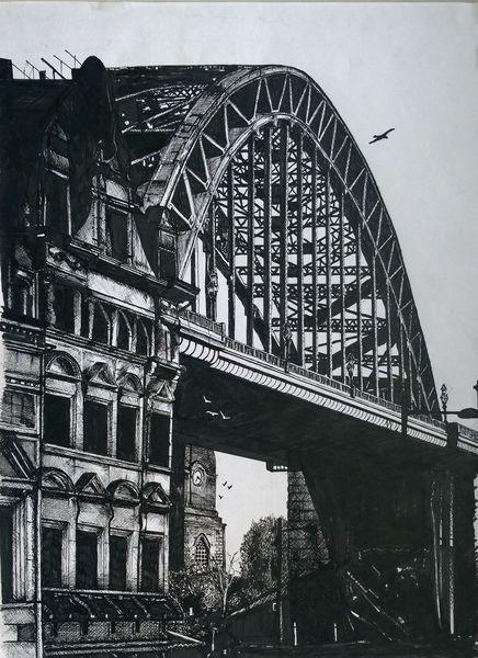 Tyne Bridge Newcastle - Ink Drawing | Sketches,drawings ...