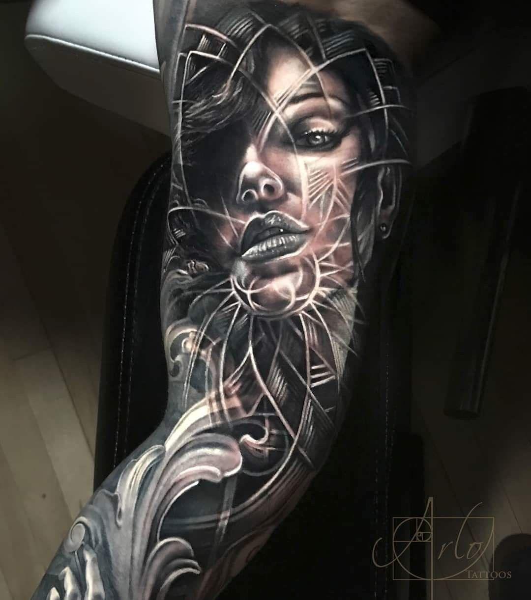 Arlo Di Cristina Arm Tattoo: Pattern Tattoo, Face Tattoos, Sleeve Tattoos