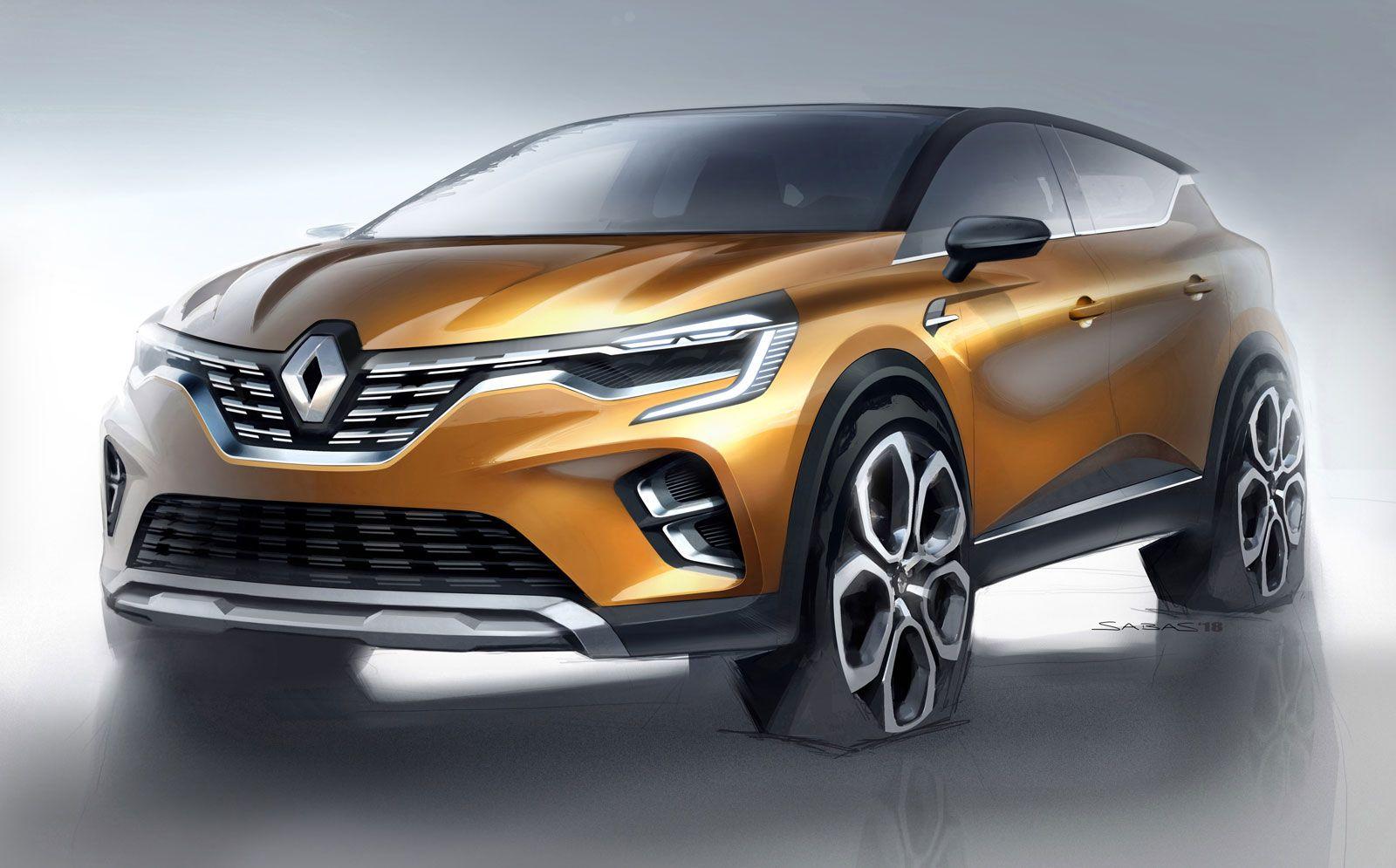 New Renault Captur Design Sketch Render Peugeot 2008 New