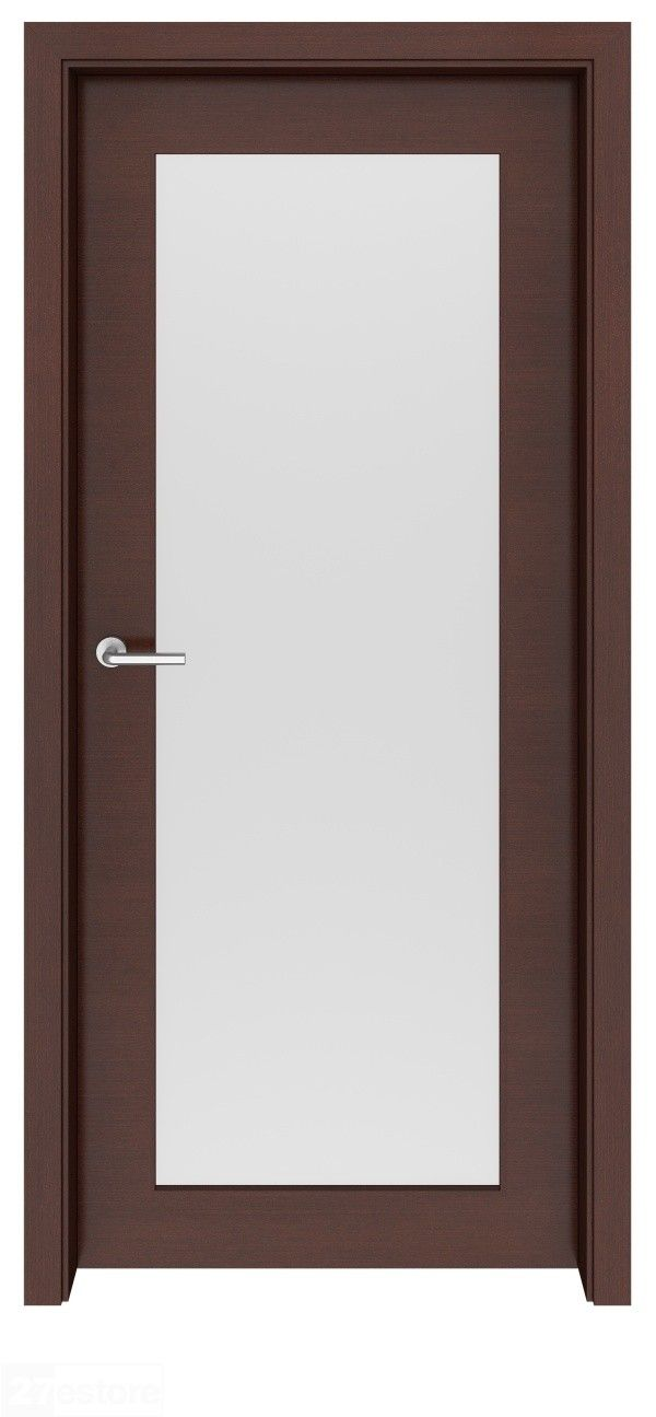 Wenge Interior Glass Doors Ontario Single Light Frosted Glass