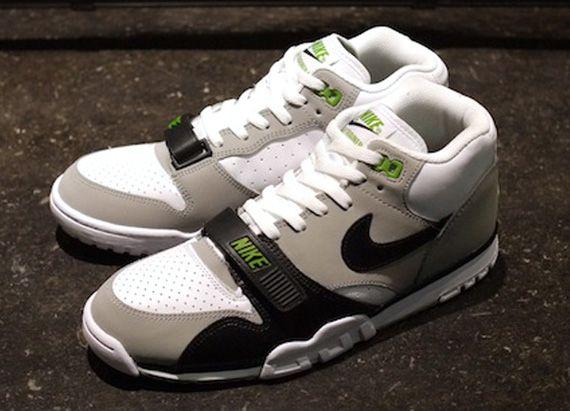 save off 656b4 7c50e Nike Air Trainer 1  WhiteBlack-Neutral Grey-Chlorophyll