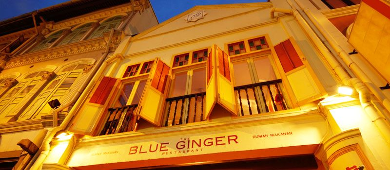 The Blue Ginger Restaurant 97 Tanjong Pagar Road Singapore 088518 Phone 65 6222 3928