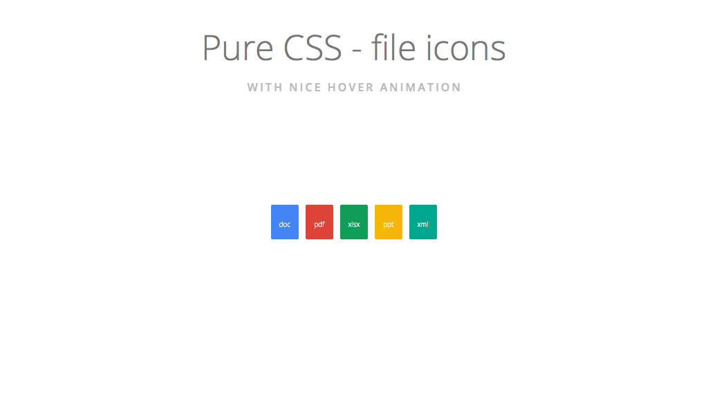 File icons combined with pure CSS and some unicode symbols which