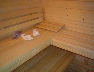 Saunas With Abachi Wood Benches Sauna Wood Bench Log Cabin