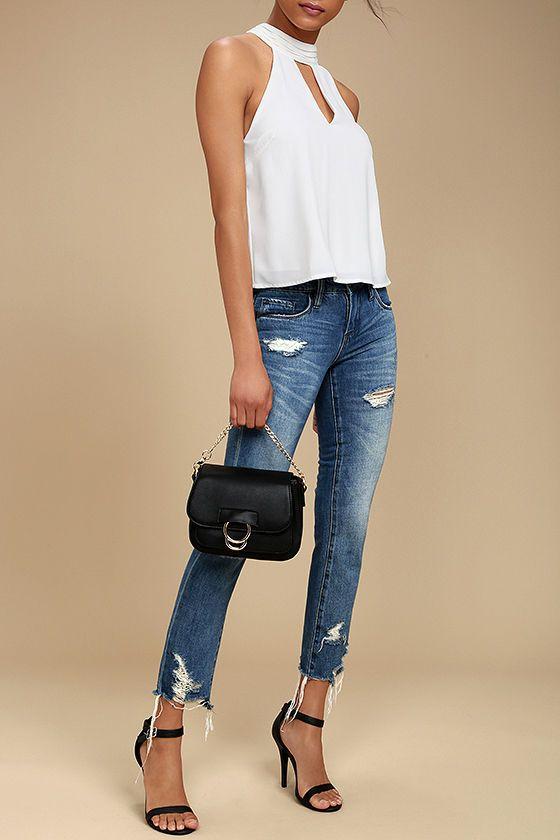 Black Melie Bianco Andrea Shoulder Bag