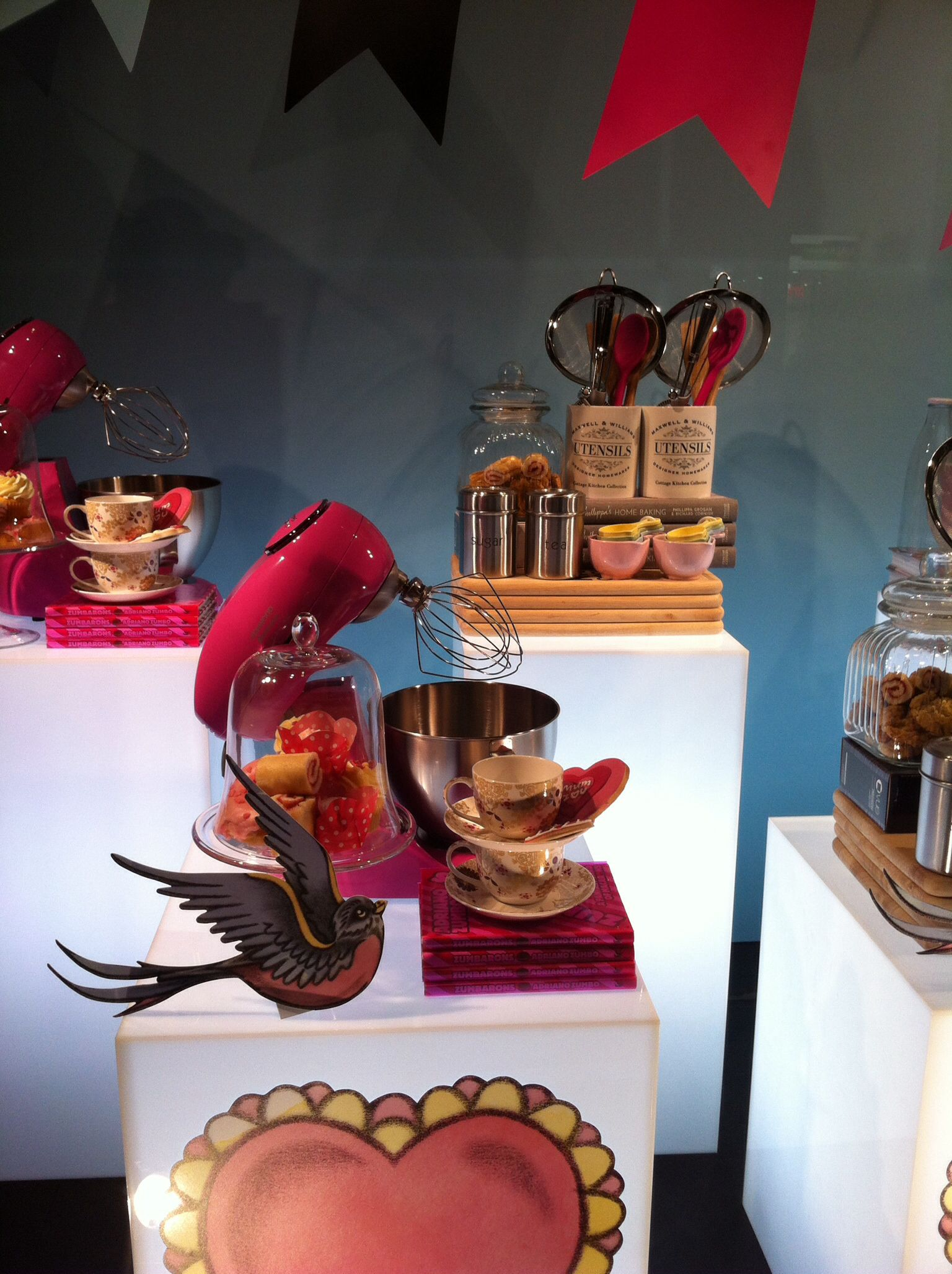 Myer Mothers' Day window display, Bourke Street Mall, Melbourne.  Image by Patricia Denis #kitchenware