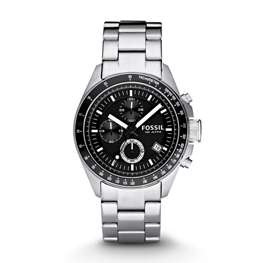 Fossil Decker Chronograph Stainless Steel Watch CH2600