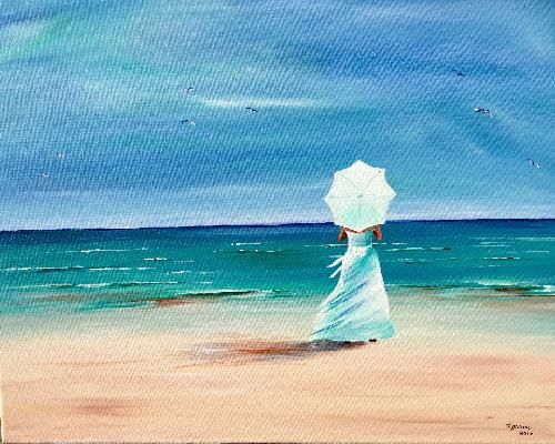 We Host Painting Events At Local Bars Simple PaintingsBeach