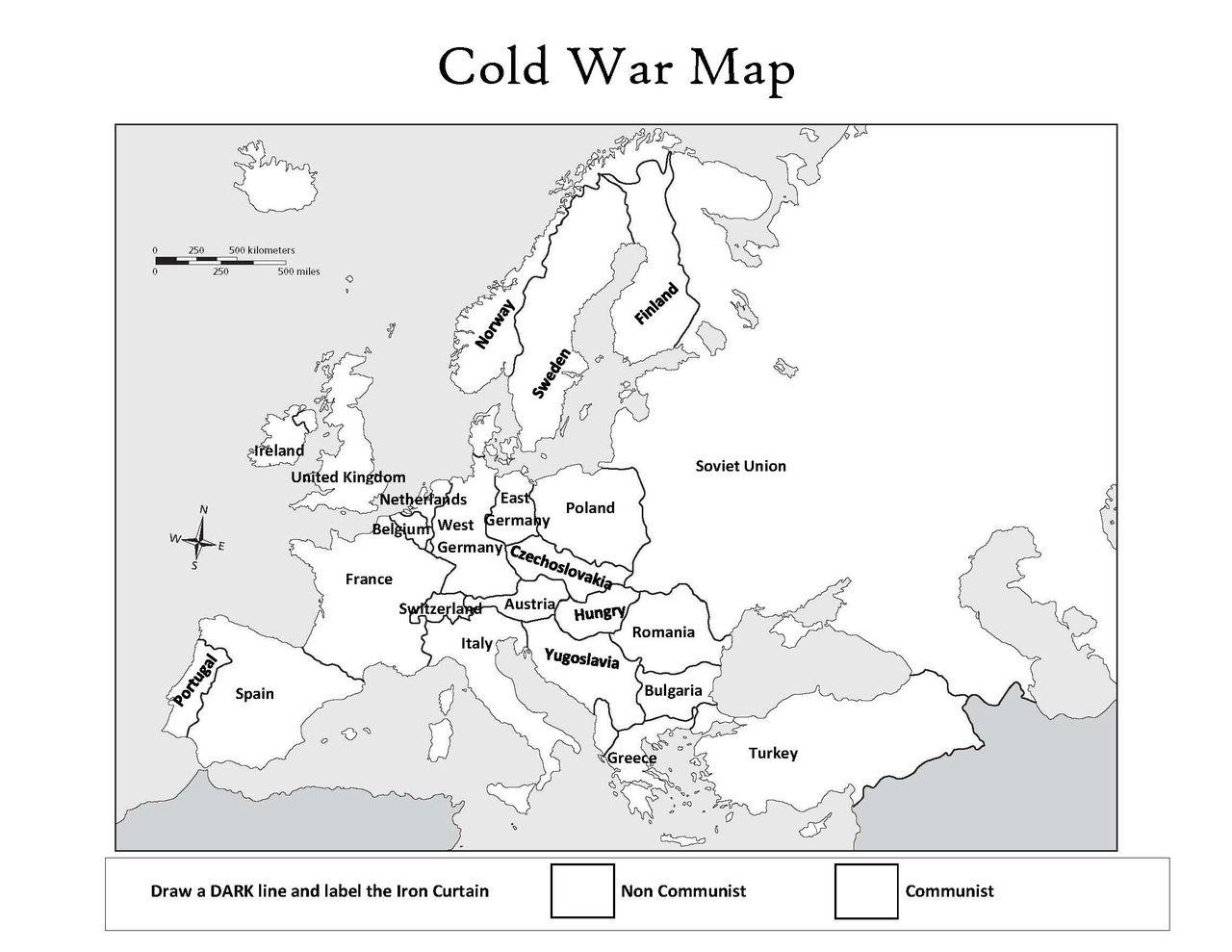 Cold War Map Cold War Map Cold War Military Wwii Maps