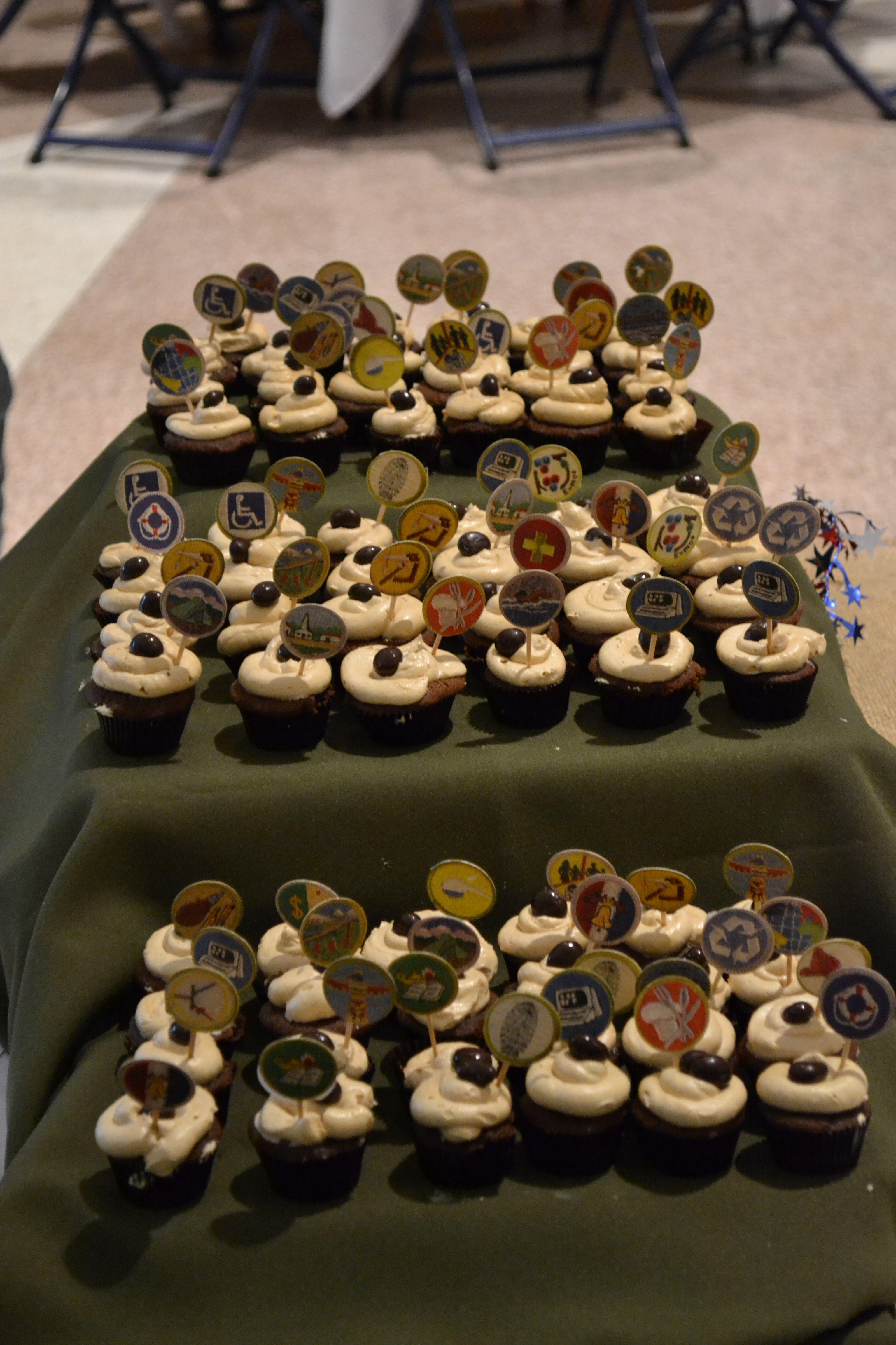 Boy Scout Merit Badge Cupcakes