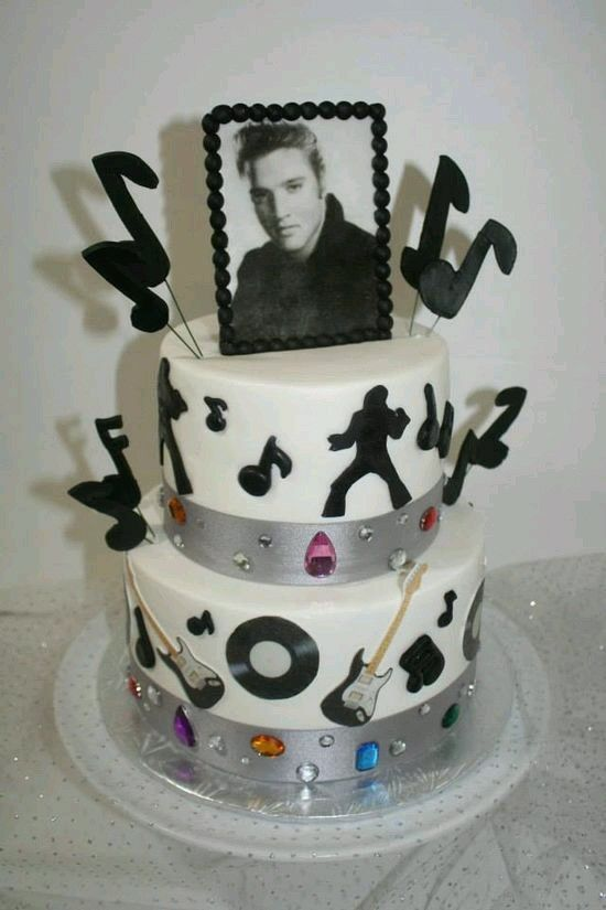 Awe Inspiring Pin By Debbie Kordell On Birthday Cakes Elvis Elvis Cakes Elvis Birthday Cards Printable Inklcafe Filternl