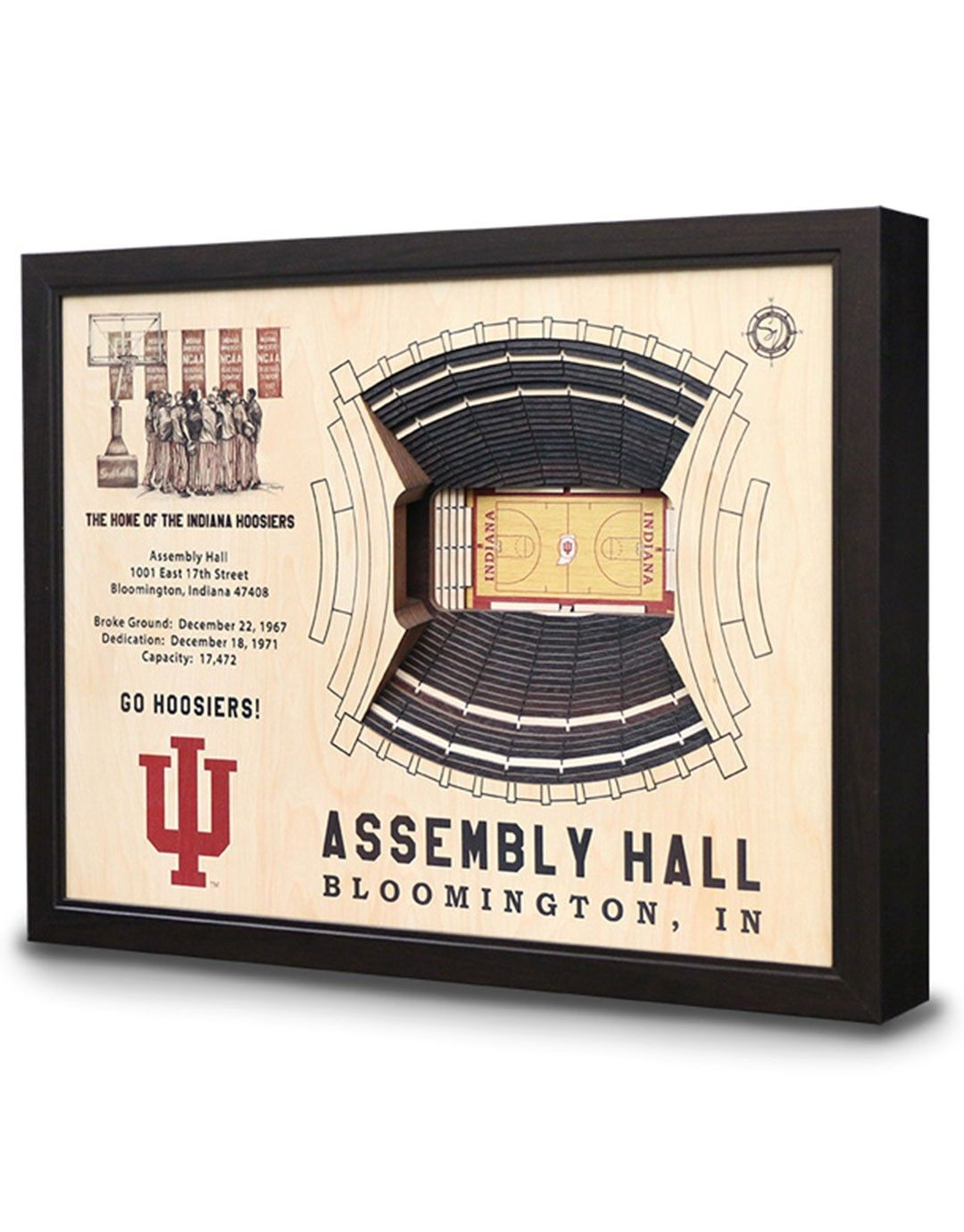 Iu Assembly Hall Wall Art Wall Art Stadium Art Indiana Hoosiers
