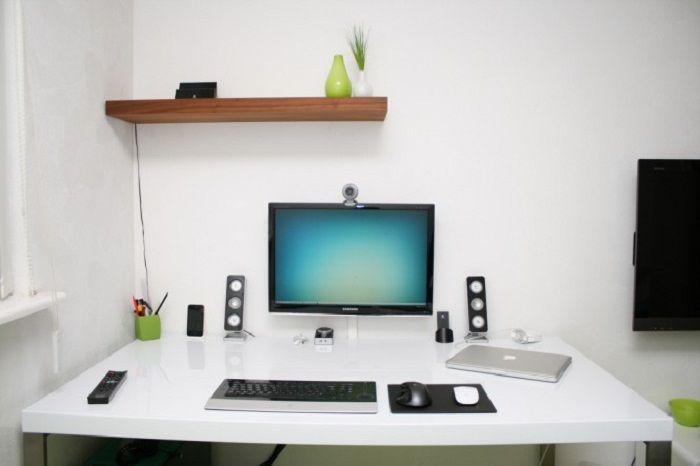 Simple Interior Design Ideas for Computer Workspace   Simple ...